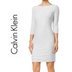 NWOT CALVIN KLEIN Glitter Jersey Cocktail Dress